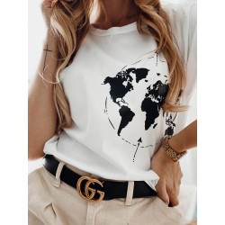 T-shirt Travel white